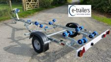 EXTREME 750kg SWING BOAT TRAILER- 12 ROLLER SWING CRADLE 16' BOAT- 5.3m RIB-17' DINGHY